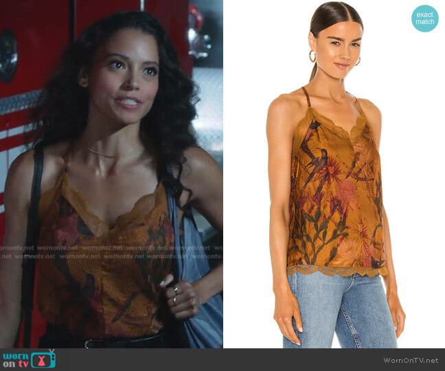 Seinie Nolina Top by All Saints worn by Gabrielle Walsh on 9-1-1