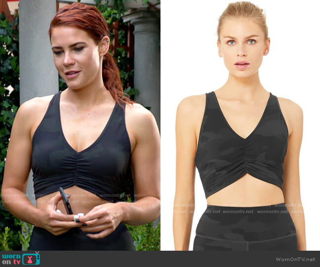Alo Vapor Wild Things Bra worn by Sally Spectra (Courtney Hope) on The Young & the Restless