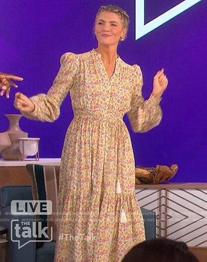 Amanda's floral tassel tie dress on The Talk