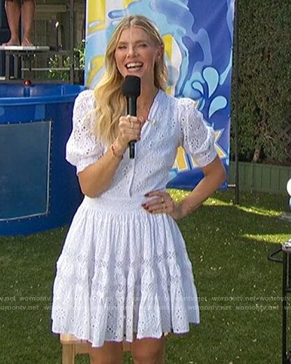 Amanda's white eyelet dress on The Talk