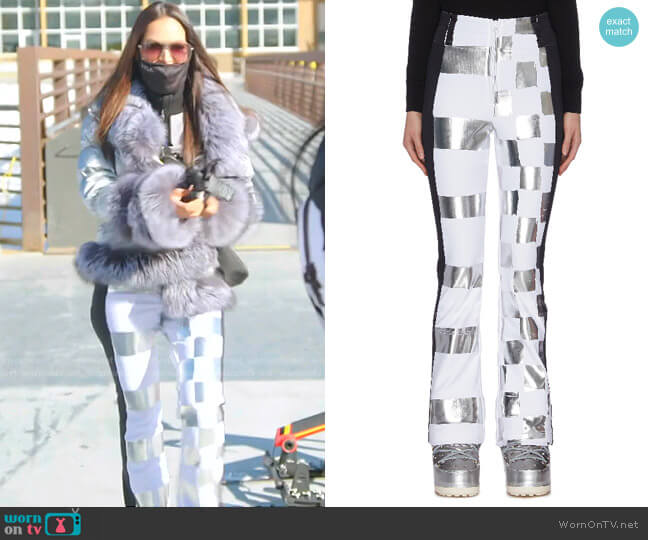 Dami Metallic Check Ski Pants by Rossignol x Jcc worn by Lisa Barlow  on The Real Housewives of Salt Lake City