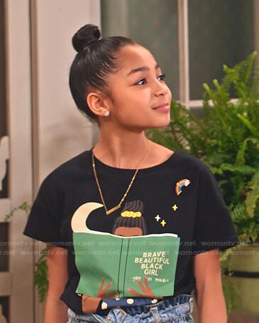 Ami's Brave Beautiful Black Girl tee on Family Reunion