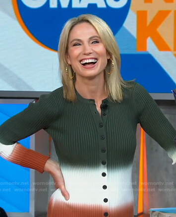Amy's tie dye colorblock ribbed dress on Good Morning America