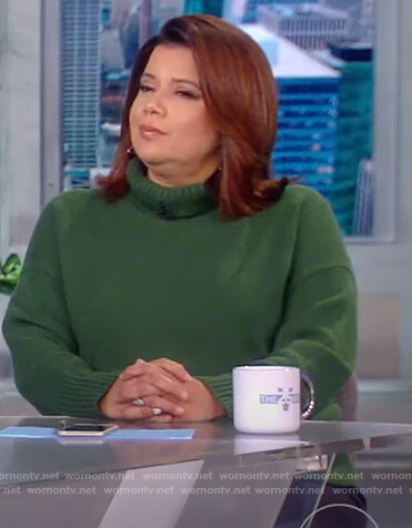Ana's green turtleneck sweater on The View