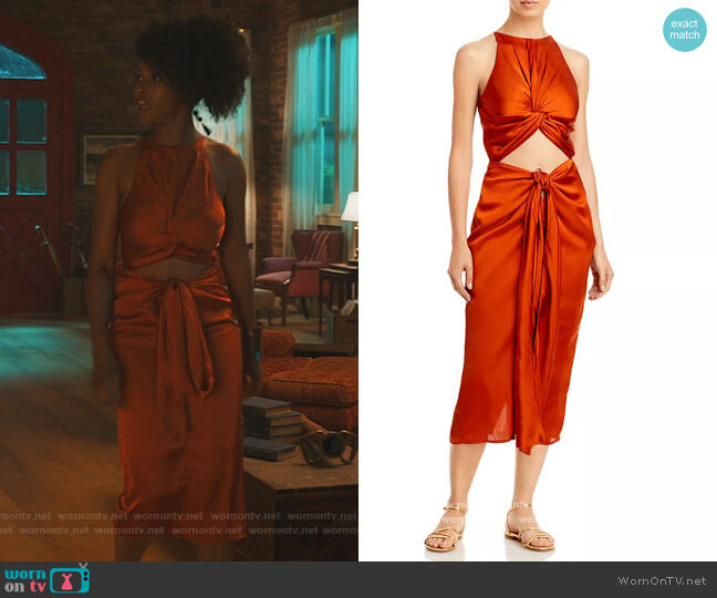 Reni Midi Dress by Andrea Lyamah worn by Angela Vaughn (Yaya DaCosta) on Our Kind of People