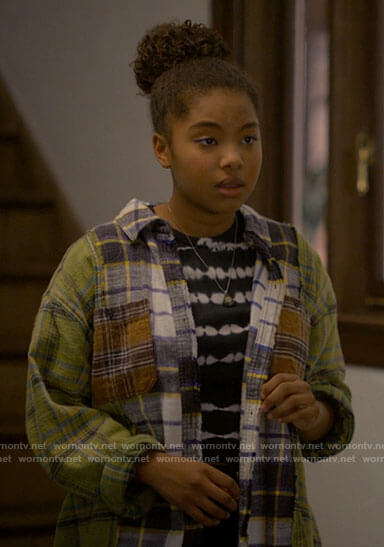 Angie's patchwork plaid shirt on The L Word Generation Q