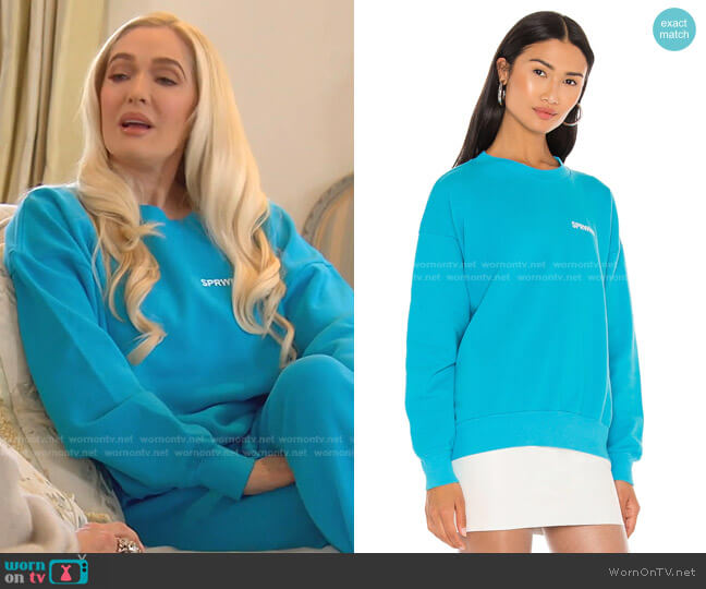 Small Logo Sweatshirt by Sprwmn worn by Erika Jayne  on The Real Housewives of Beverly Hills
