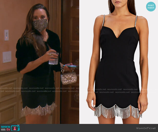 Crystal Fringed Mini Dress by Area worn by Kyle Richards  on The Real Housewives of Beverly Hills