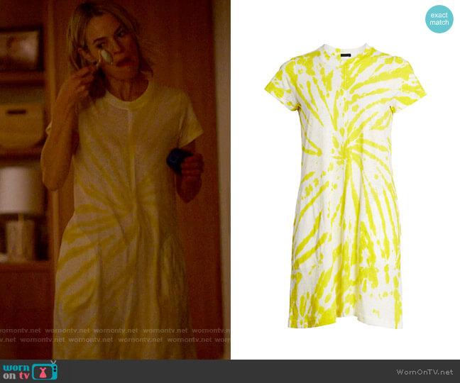 ATM Anthony Thomas Melillo Tie-Dye Short Sleeve Dress worn by Alice Pieszecki (Leisha Hailey) on The L Word Generation Q