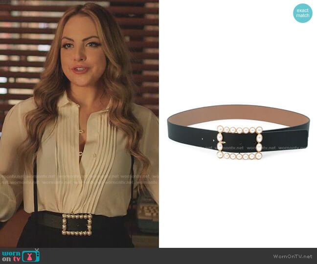 Joan Imitation Pearl Buckle Belt by B-Low The Belt worn by Fallon Carrington (Elizabeth Gillies) on Dynasty
