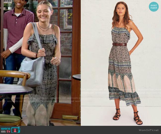 ba&sh Teresa Dress worn by Faith Newman (Reylynn Caster) on The Young & the Restless