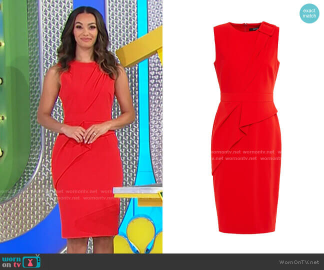 Badgley Mischka Odessa Buckle Front Day Dress worn by Alexis Gaube  on The Price is Right
