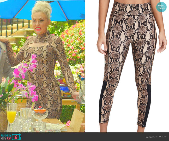 High Waisted Legging With Front Zip by Bandier x A.L.C. worn by Alexis Carrington (Elaine Hendrix) on Dynasty