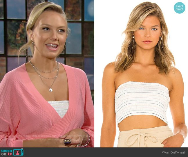 Bcbgeneration Smocked Tube Top worn by Abby Newman (Melissa Ordway) on The Young & the Restless