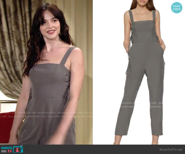 Bcbgeneration Lace-up Side Jumpsuit worn by Tessa Porter (Cait Fairbanks) on The Young & the Restless