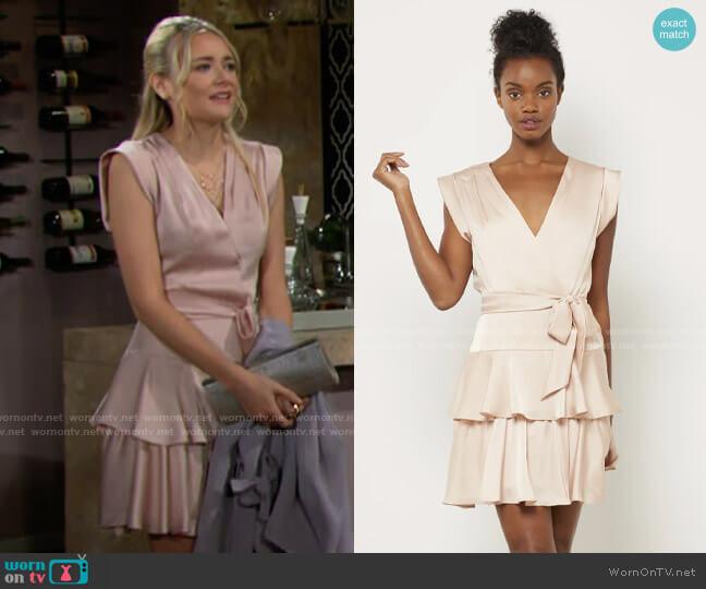 Bcbgmaxazria Ruffled Skirt Dress worn by Faith Newman (Reylynn Caster) on The Young & the Restless