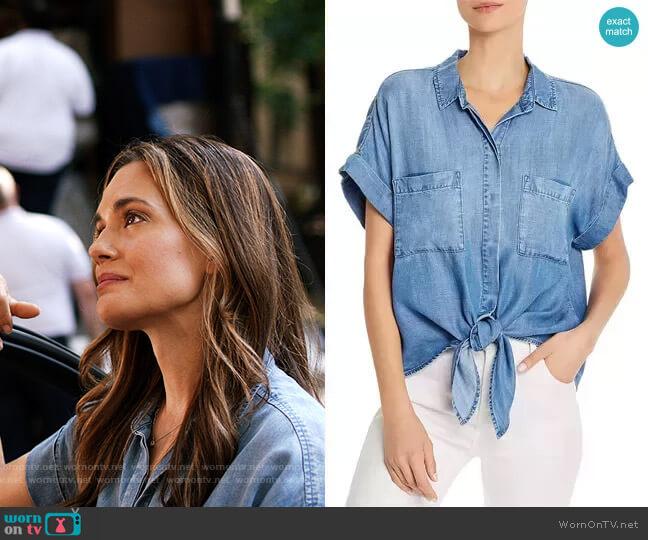 Bella Dahl  Tie-Front Chambray Shirt worn by Natalie Manning (Torrey DeVitto) on Chicago Med