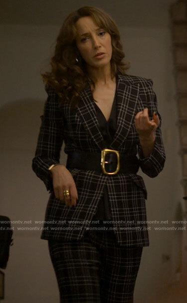 Bette's black plaid suit on The L Word Generation Q