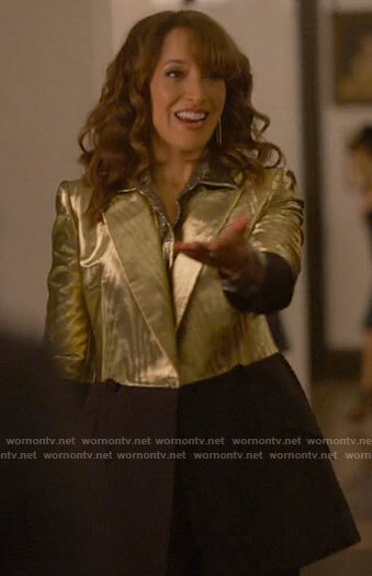 Bette's gold and black blazer on The L Word Generation Q