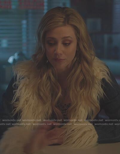 Toni's gray button down bodysuit on Riverdale