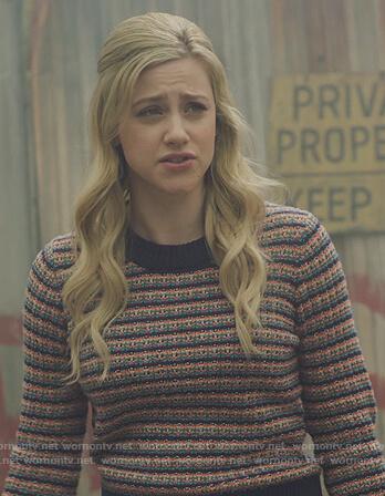 betty's stripe knit sweater on Riverdale