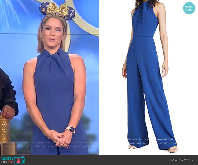 Zana Jumpsuit by Black Halo worn by Sara Haines  on The View
