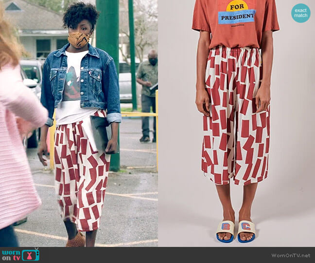 Bobo Choses Shadows Print Culottes worn by Nova Bordelon (Rutina Wesley) on Queen Sugar