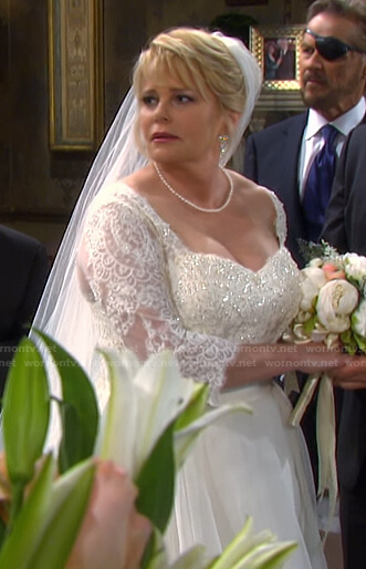 Bonnie's wedding dress on Days of our Lives