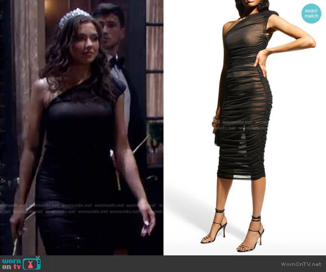 Maya One-Shoulder Ruched Dress by Bronx and Banco worn by Ciara Brady (Victoria Konefal) on Days of our Lives