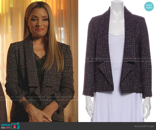 Tweed Jacket by Chanel  worn by Dominique Deveraux (Michael Michele) on Dynasty