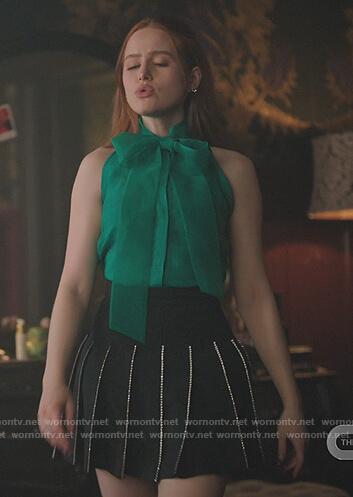 Veronica's blue stripe tank on Riverdale