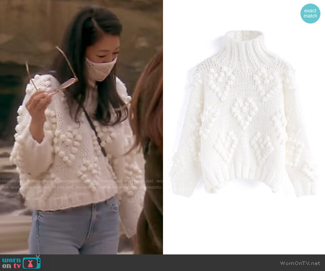 Knit Your Love Turtleneck Sweater by Chic Wish worn by Crystal Kung Minkoff  on The Real Housewives of Beverly Hills