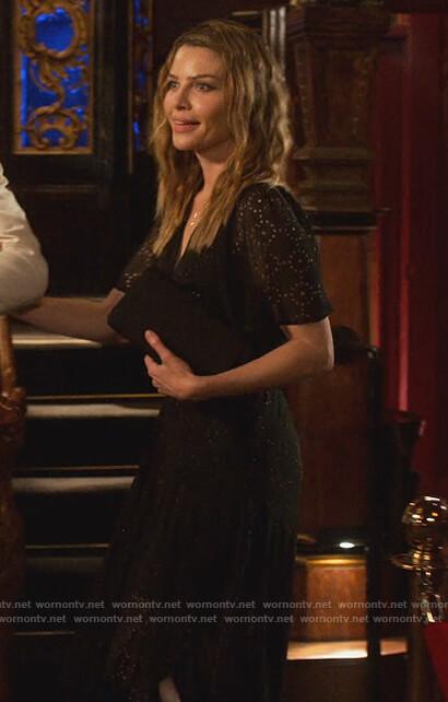 Chloe's black eyelet dress on Lucifer