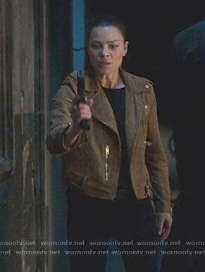Chloe's brown suede jacket on Lucifer