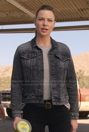 Chloe's grey denim jacket on Lucifer