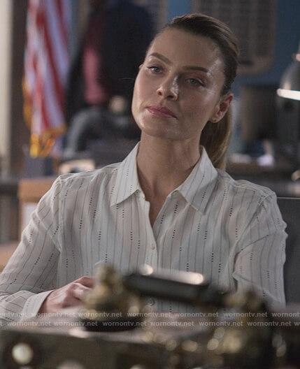 Chloe's white stripe blouse on Lucifer