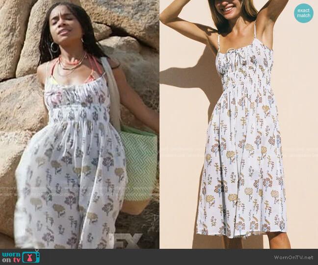 Ciao Lucia Gabriela Dress in Meadow worn by Jamie (Rachel Hilson) on American Horror Story