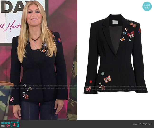 Embellished Meadow Blazer by Cinq a Sept worn by Jill Martin  on Today