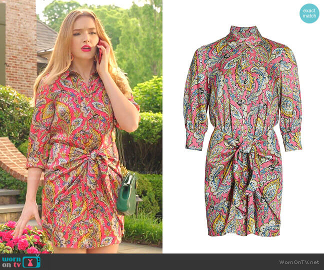 Gaby Dress in Primrose by Cinq a Sept worn by Kirby Anders (Maddison Brown) on Dynasty