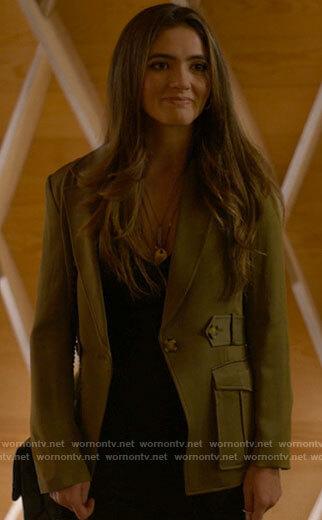 Dani's green blazer with pockets on The L Word Generation Q