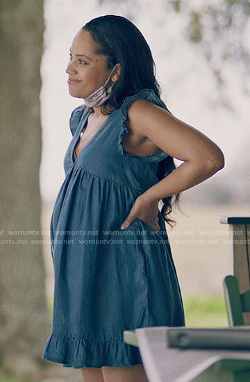 Nova's rectangle print culottes and cropped denim jackets on Queen Sugar