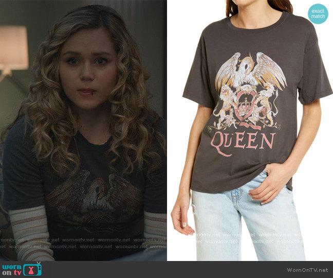 Queen Crest Boyfriend Tee by DayDreamer worn by Courtney Whitemore (Brec Bassinger) on Stargirl