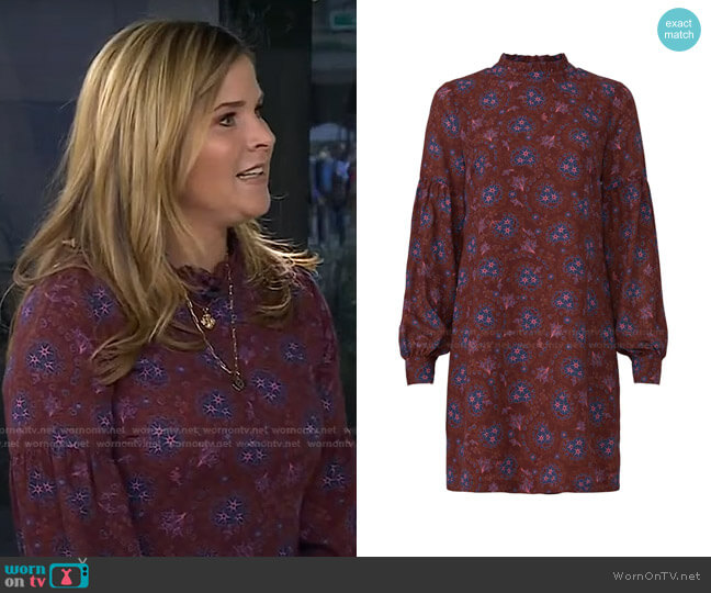 Mock Neck Shift Dress by Derek Lam Collective worn by Jenna Bush Hager  on Today