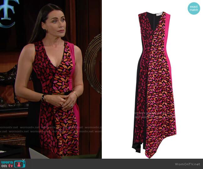 Diane von Furstenberg Janina Dress worn by Quinn Fuller (Rena Sofer) on The Bold & the Beautiful