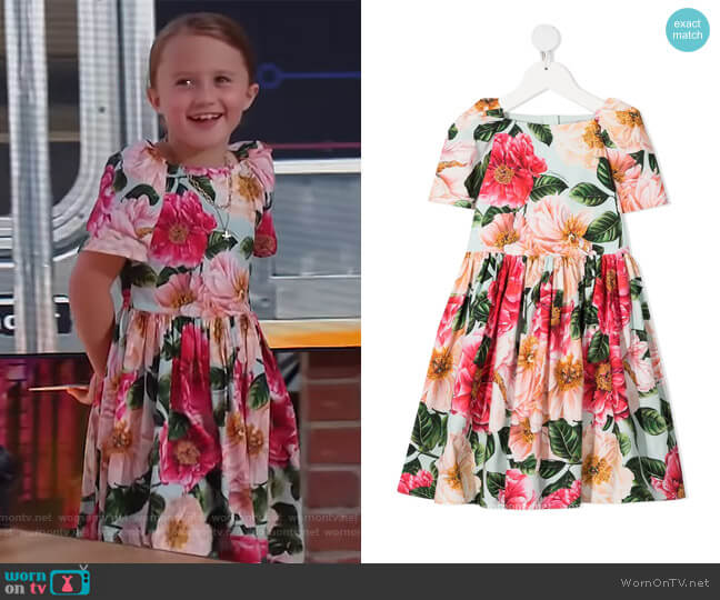Floral Printed Dress by Dolce & Gabbana worn by River on The Kelly Clarkson Show