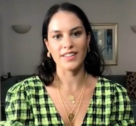 Donna's green plaid dress on Today