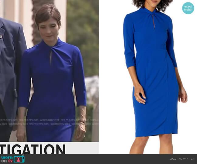Donna Morgan Knotted Crepe Sheath Dress