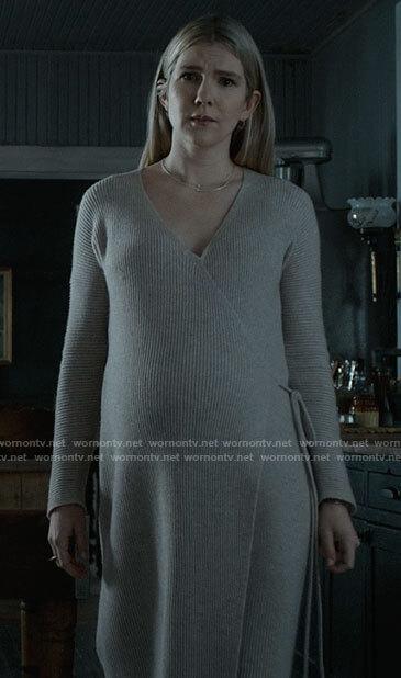 Doris's wrap sweater dress on American Horror Story