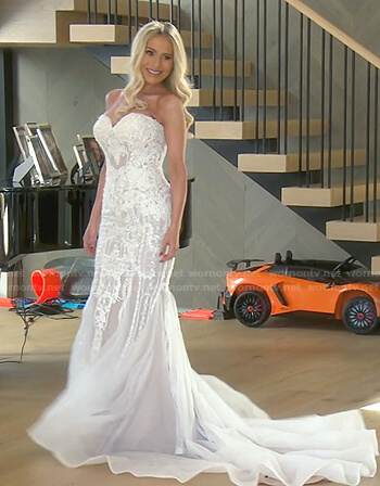 Dorit's embellished wedding dress on The Real Housewives of Beverly Hills