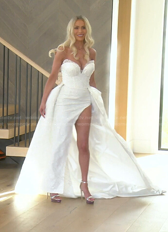 Dorit's strapless wedding dress on The Real Housewives of Beverly Hills